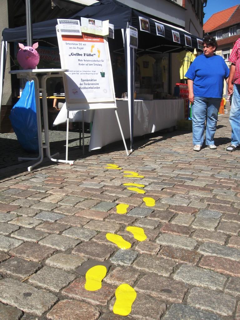 Gelbe Füße