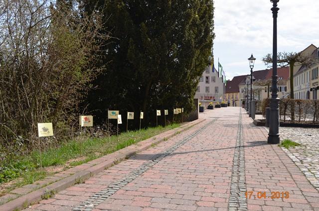 Neue Allee - zwischen Parkdeck und Rathaus